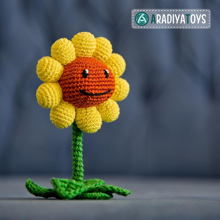 Sunflower Plants vs Zombies Crochet Pattern