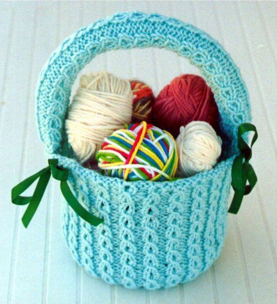 Elegant Basket Knitting Pattern