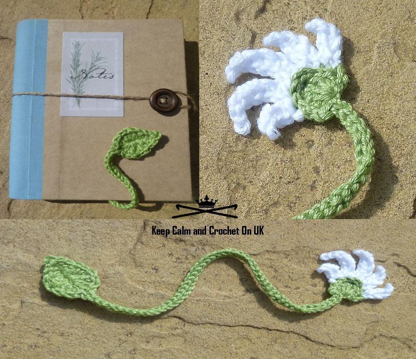 FREE Crochet Flower Bookmark Pattern