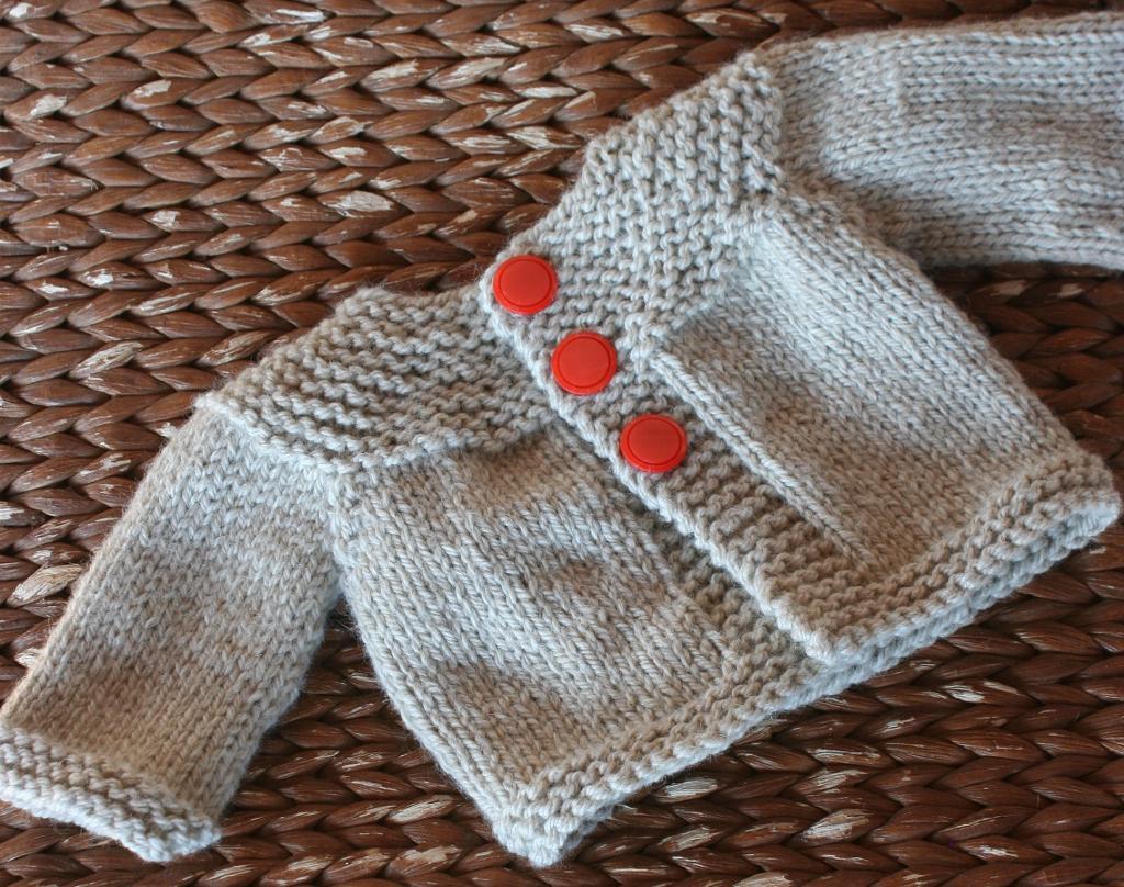 Quick Oats Cardigan Knitting Pattern