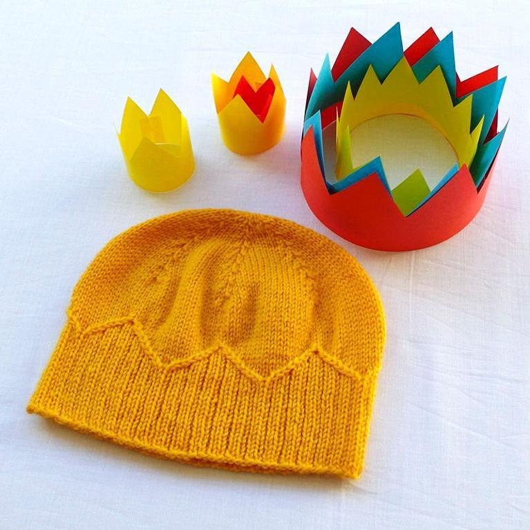 Paper Crown Knitting Pattern