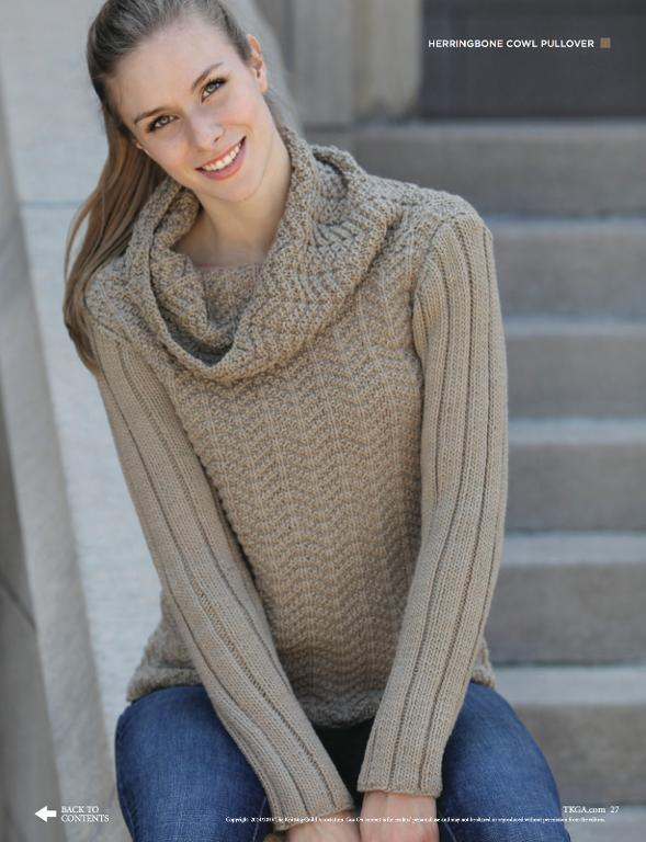 Cast On Magazine: Herringbone Cowl Sweater