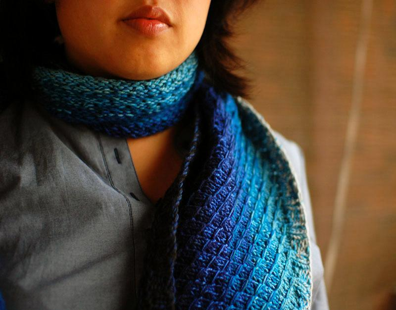 Dipped Infinity Scarf Knitting Pattern