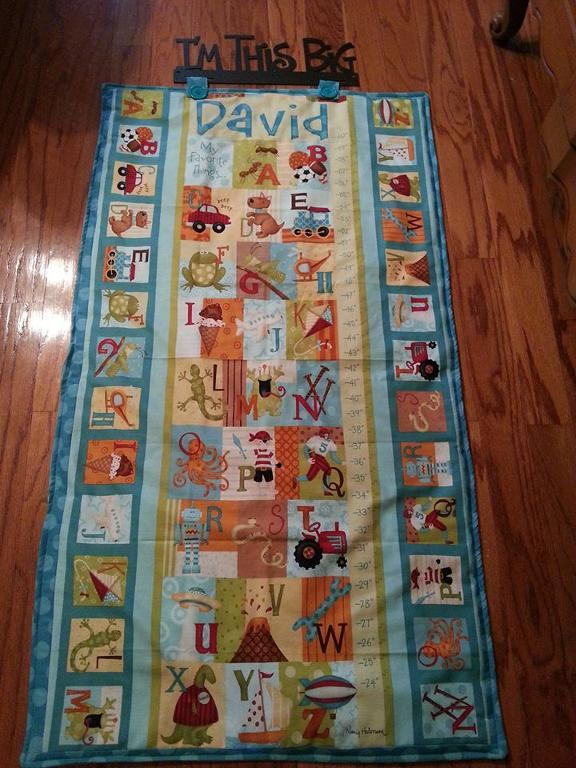 David's quilted growth chart