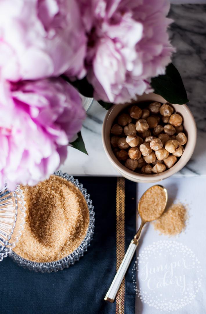 Easy hazelnut praline ingredients