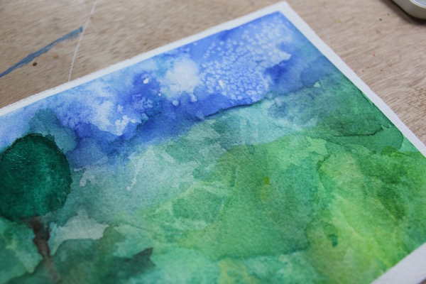 Detail of Abstract Watercolor Painting