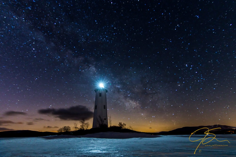 Milky Way Over Loon Island Lighthouse