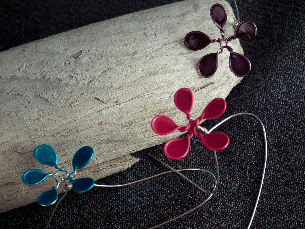 wire nail polish flowers