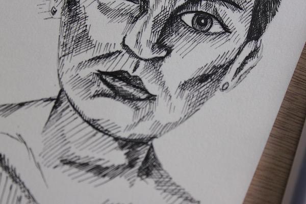 Pen drawing detail