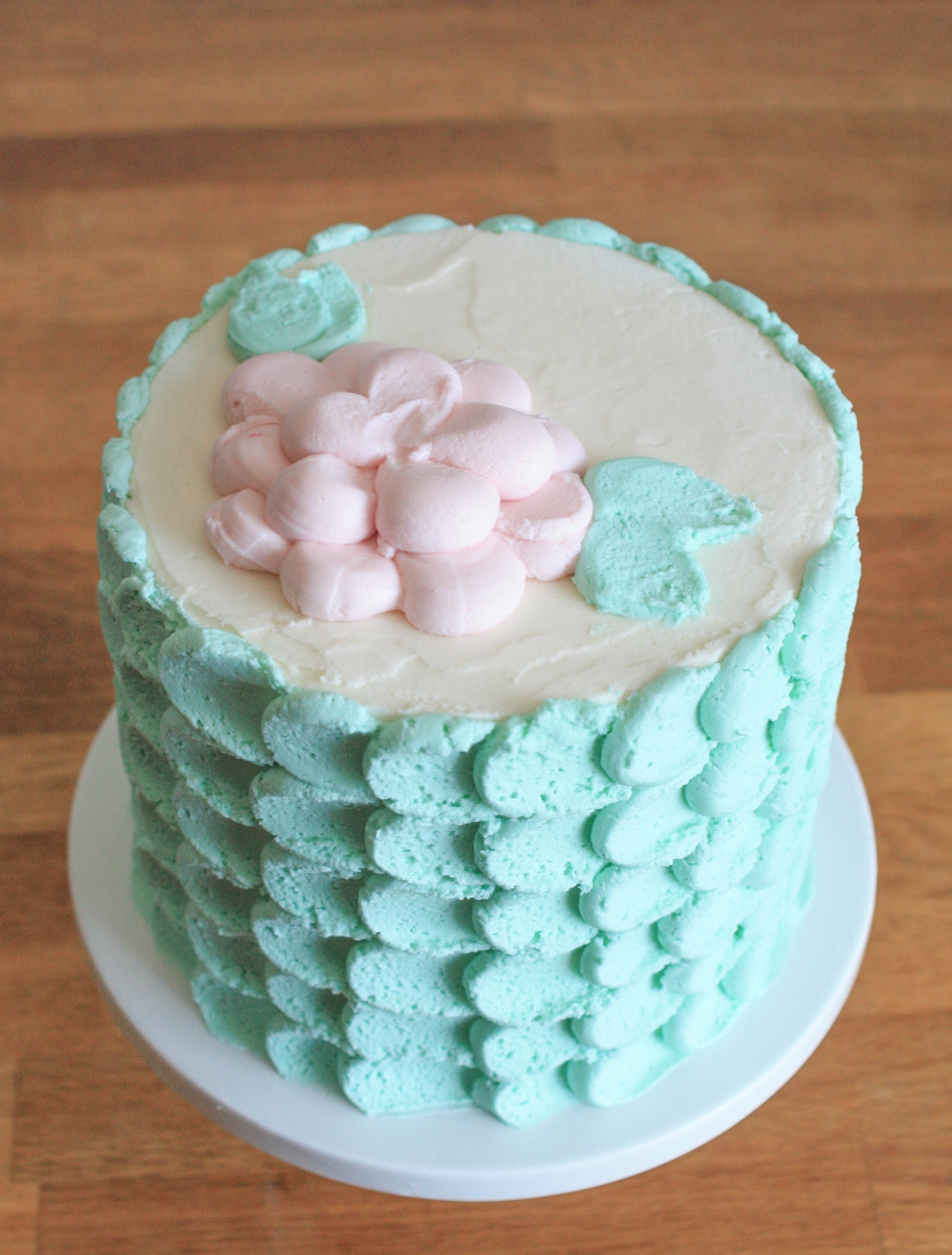 Finished Piped Petal Cake | Erin Gardner | Bluprint