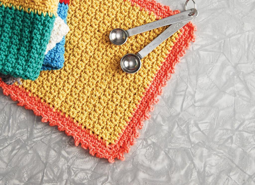 picot crochet dishcloth