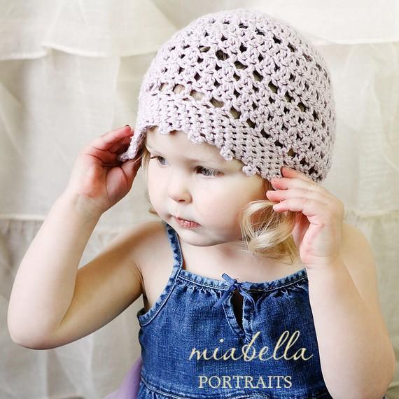 picot crochet hat