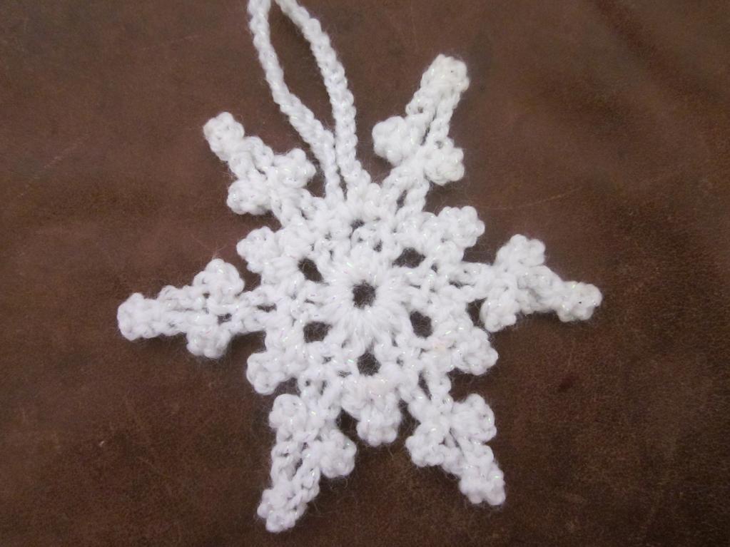 picot snowflake crochet