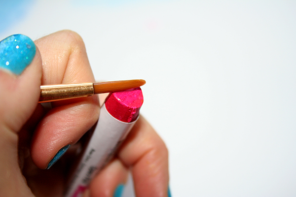 Use Watercolor Stick Pigment