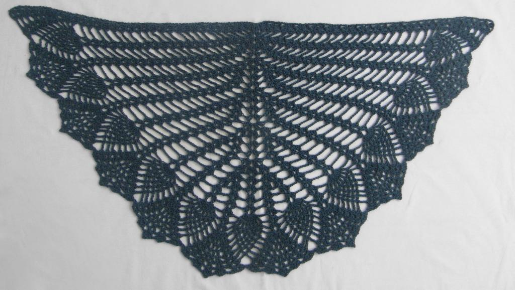 Pineapple Crochet Shawl