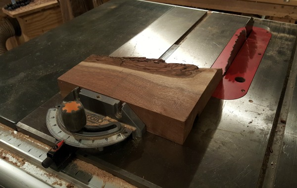 planed piece of walnut