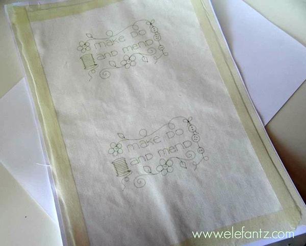 print on fabric stitchery tutorial