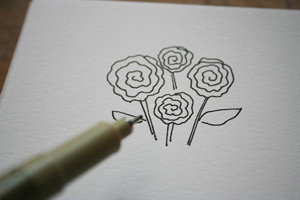 Cartoon roses