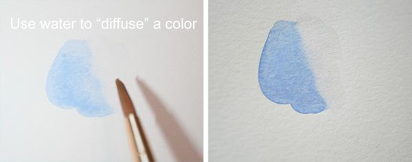 Single Color Watercolor Gradient