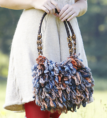 Staff Purse Knitting Pattern with Loopy Stitch