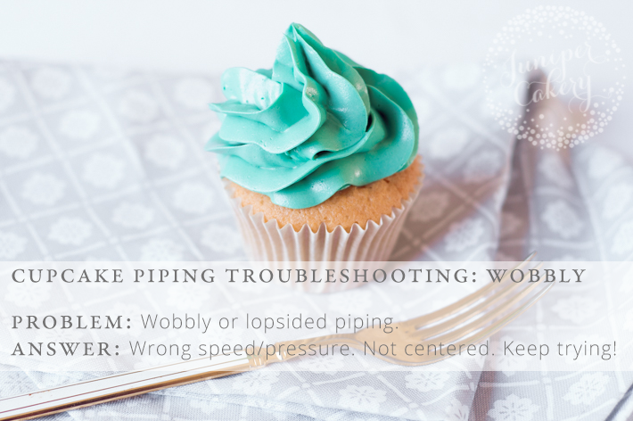 Wobbly or lopsided icing