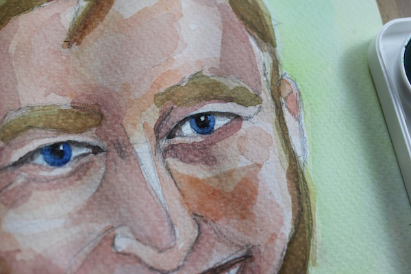 Watercolor painting - detail