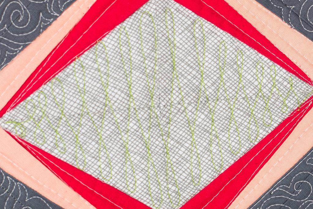 wishbone filler free motion quilting design