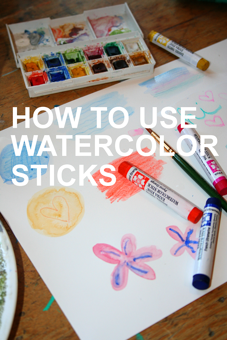 How to Use Watercolor Sticks