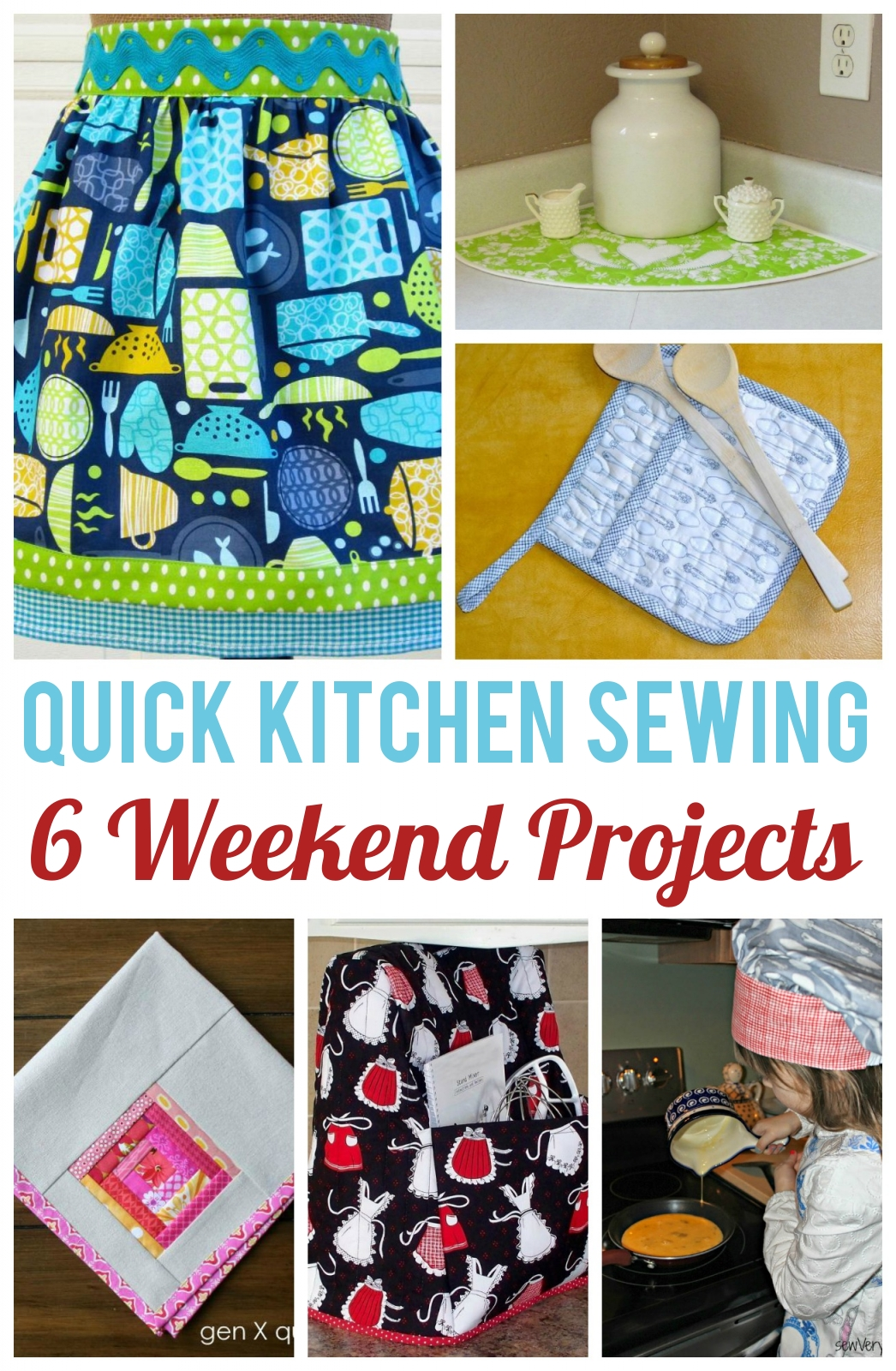 Weekend Sewing: 6 Kitchen Projects