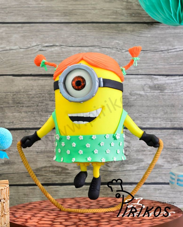 Suspended Minion Cake