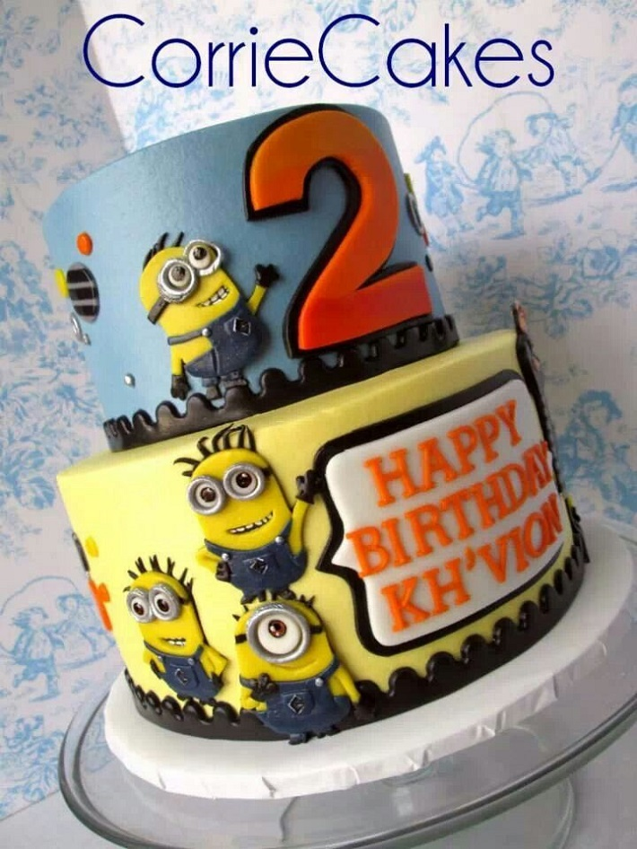 Two-tier Minion Cake