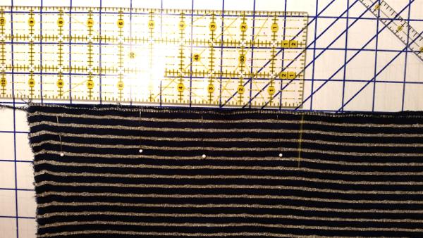 Pinning Fabric to Make a Shrug