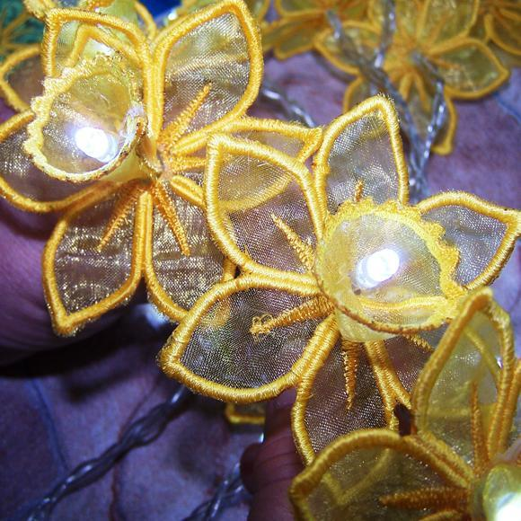 3D Daffodil String Light Pattern