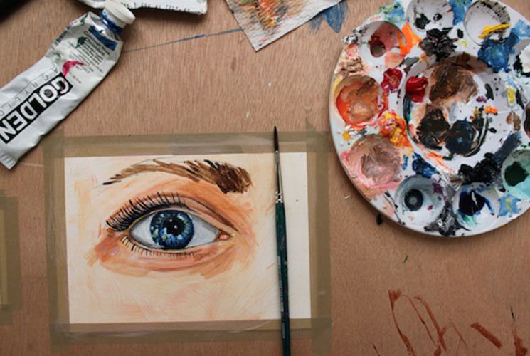 painting a realistic eye in acrylic