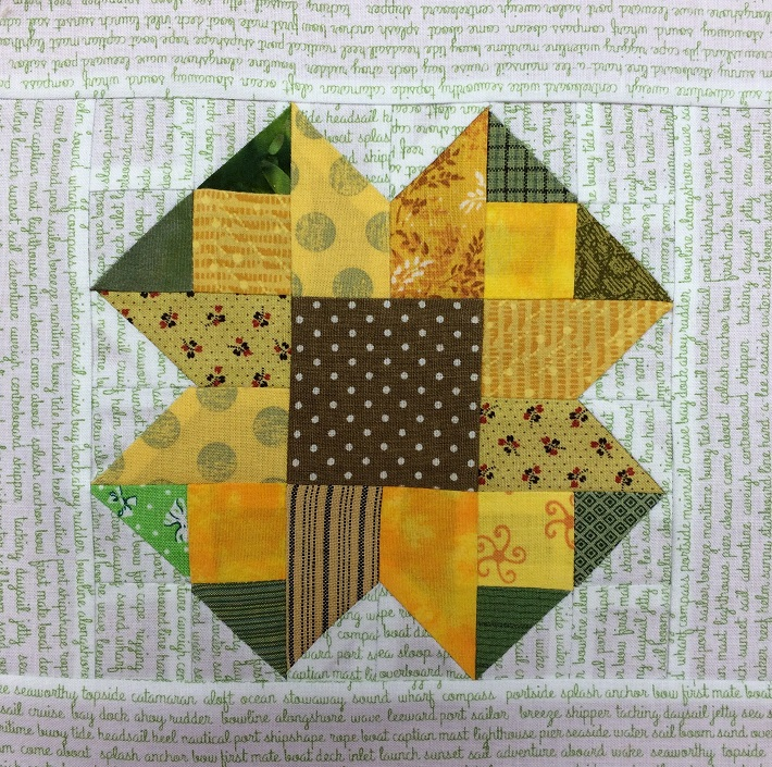 finished August Scrappy Block