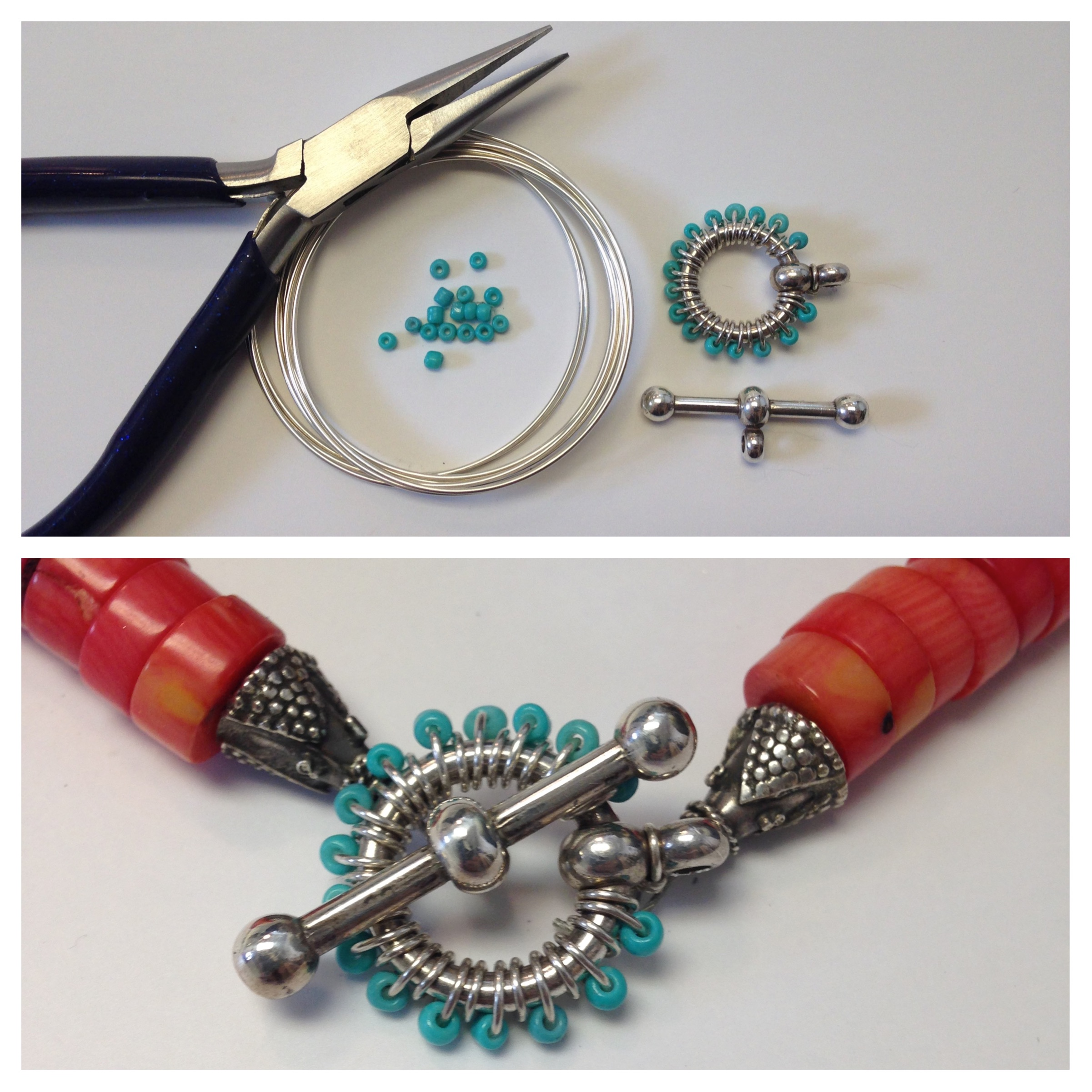 Fun beaded clasp