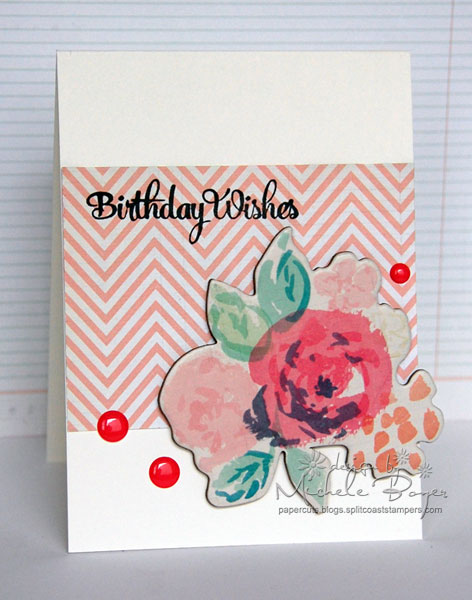 """Birthday Wishes"" card with chipboard as focal point"