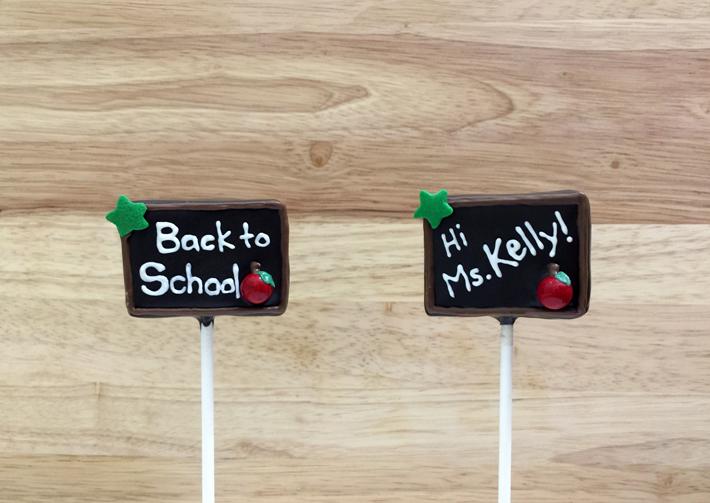 Chalkboard cake pops