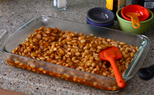 Finished Homemade Baked Beans