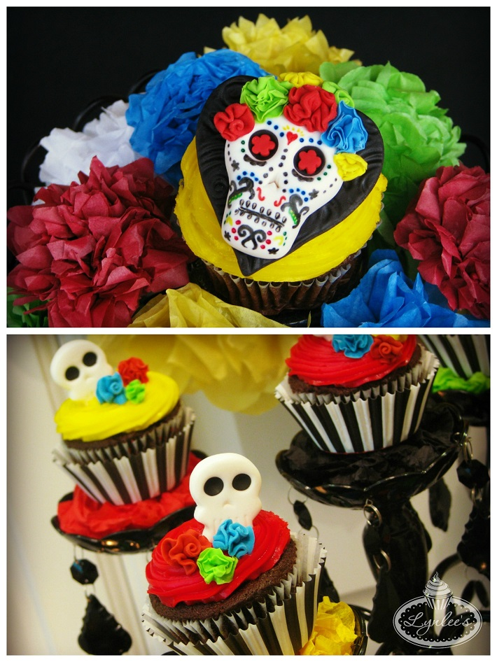 Day of the Dead fondant cupcake topper collection