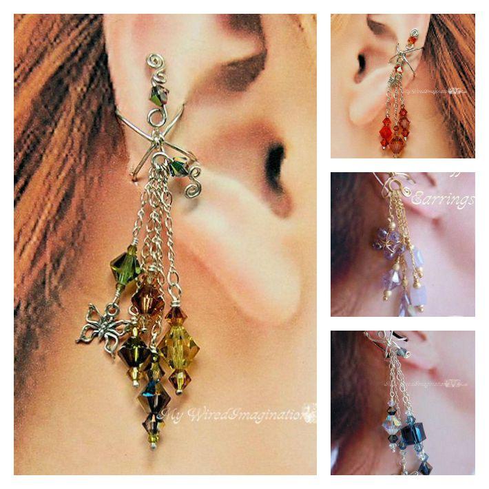 Ear Cuffs Wire Wrap Earrings