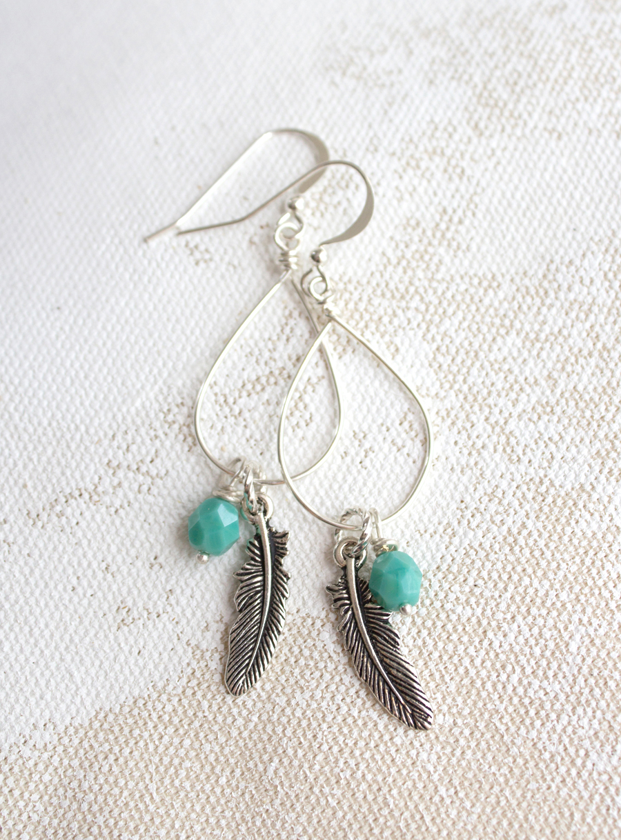 Wire Wrapped Earrings DIY