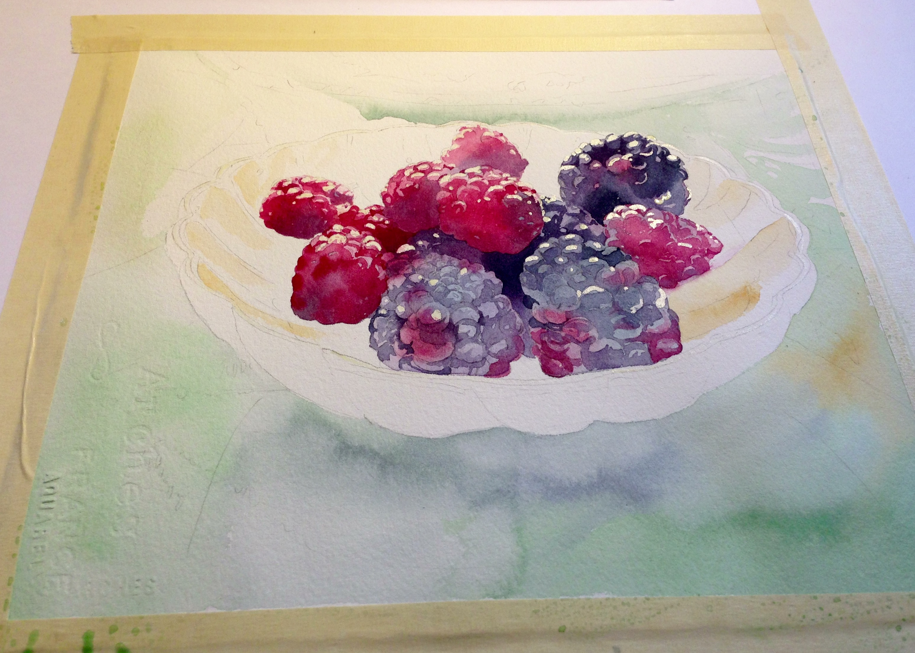 Adding light to a still life watercolor