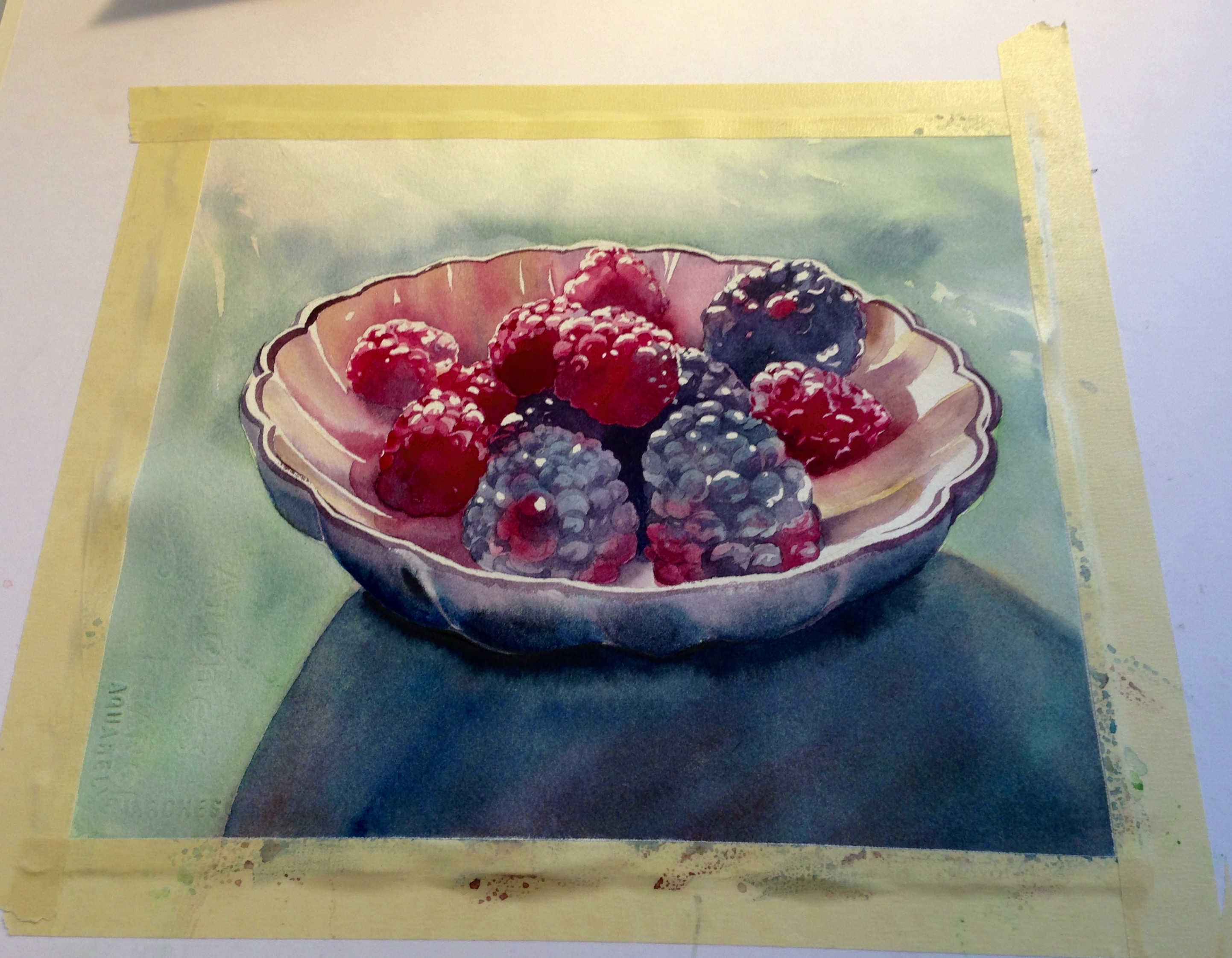 Creating realistic color in watercolor still life paintings