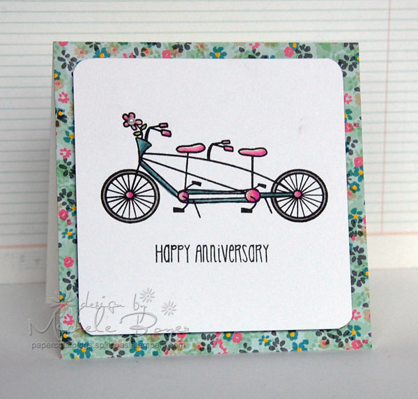 """Happy Anniversary"" card with front and center bicycle image"