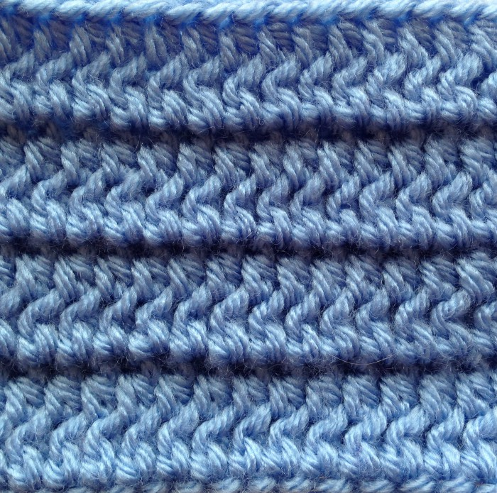 Half double crochet middle loops alt back loops