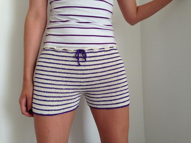 Hipster Glitter Shorts Knitting Pattern