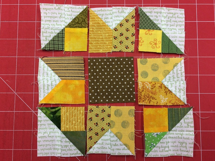 layout with rectangle units sewn