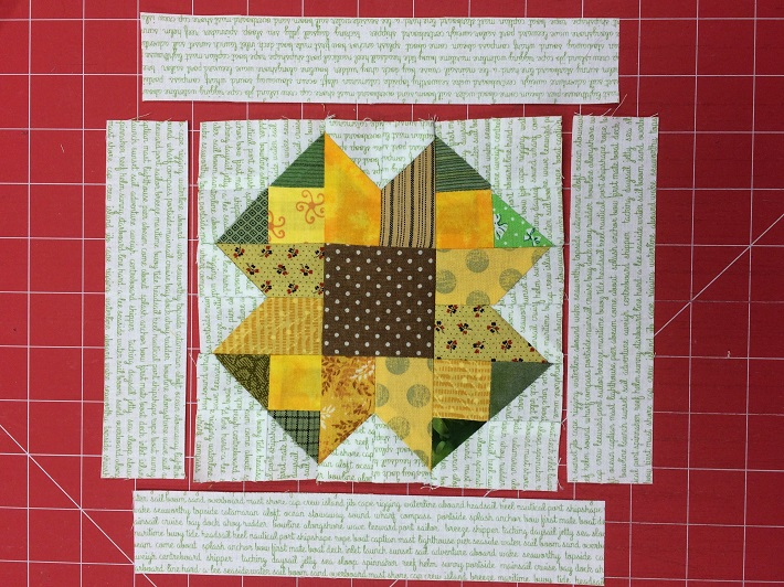 block center sewn and borders