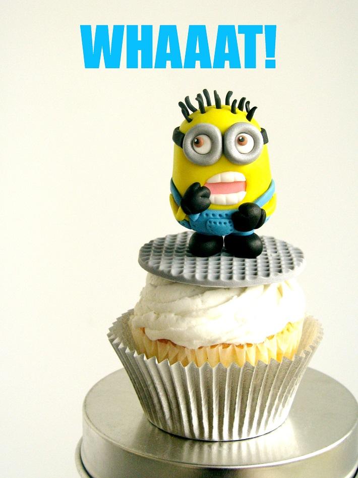 Minion fondant cupcake tutorial